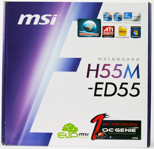 MSI H55M-ED55 box