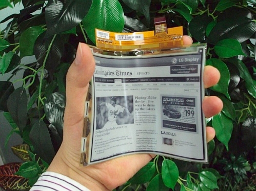 lg flexible bendable e-paper