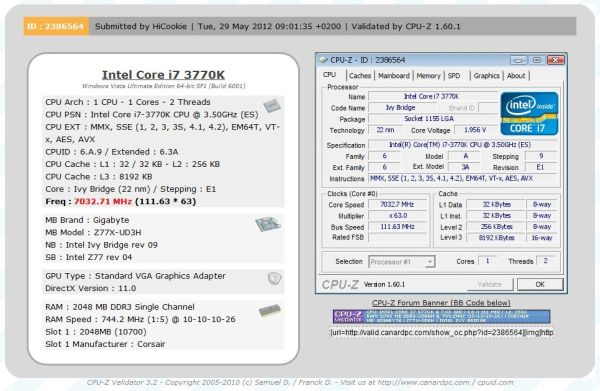 Intel corei7oc cpu-z