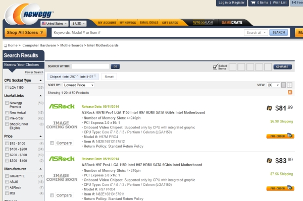 newegg-IntelZ97H97listing 2