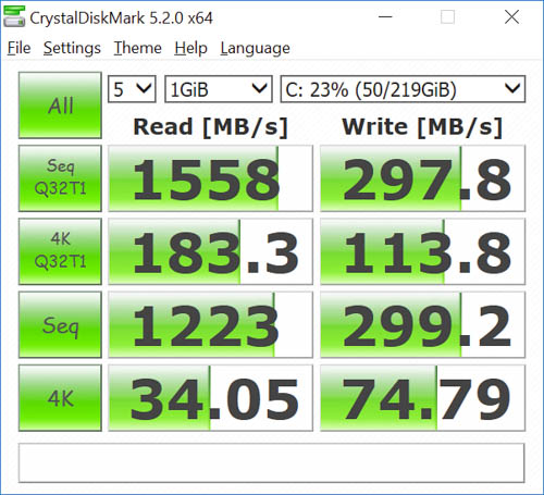 hp spectre x360 kaby lake crystal disk mark