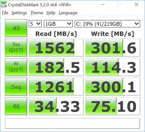 hp spectre x360 kaby lake crystaldiskmark 0fill