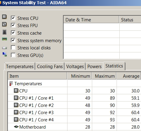 cpu temp with 7-zip