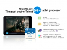 $5 Allwinner A64 can power 4K tablets