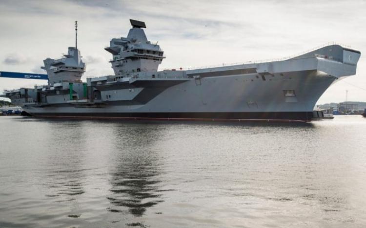 HMS Queen Elizabeth sets sail for sea trials