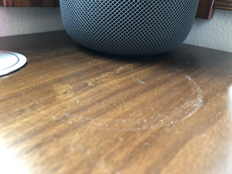 Apple HomePod Leaves Its Mark - On Furniture