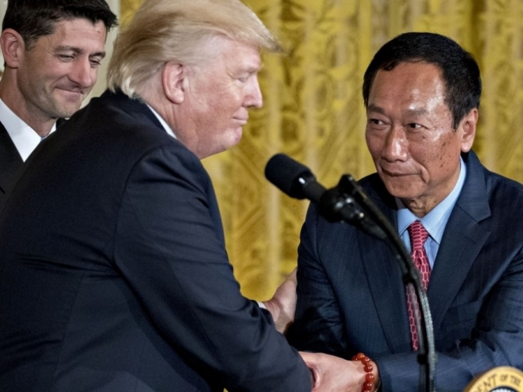 Foxconn will go ahead with a downsized US LED plant