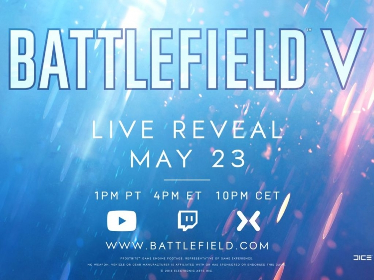 Battlefield V will be revealed next week