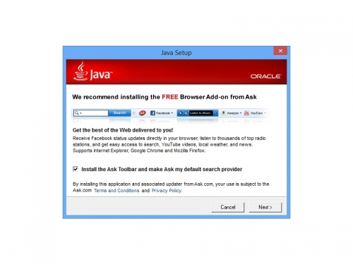 Java is installing Adware