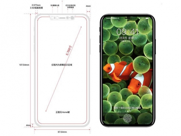 "Apple ""iPhone 8"" renders surface as expected"