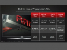 Radeon 2016 GPUs support HDMI 2.0a DP 1.3 and HDR