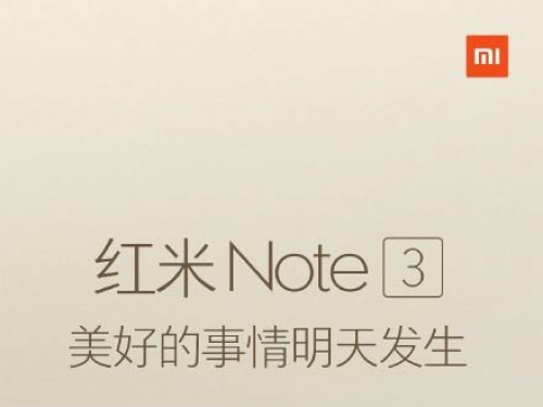 Xiaomi launches Redmi Note 3 tomorrow