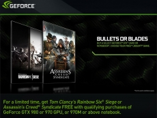 Nvidia's Bullets or Blades Geforce bundle details