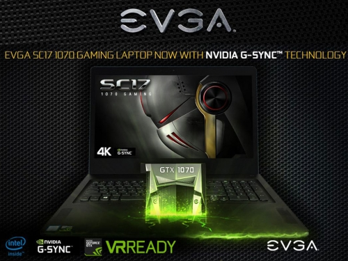 EVGA adds G-Sync to its SC17 notebook