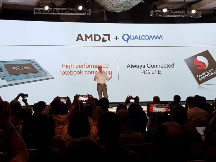AMD teams with Qualcomm, crams 4G LTE modem into Ryzen/Vega