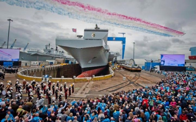 Russian Federation will envy Royal Navy's new aircraft carrier, says Fallon