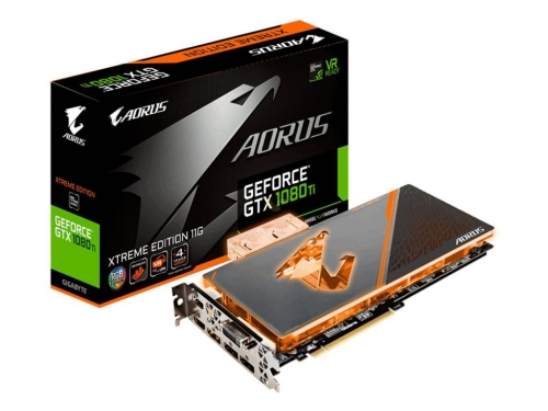 Gigabyte shows liquid cooled GTX 1080 Ti graphics card