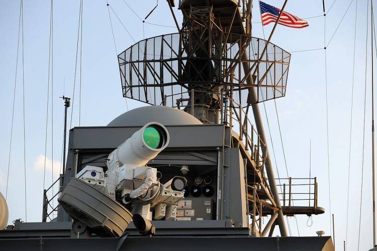 U.S. navy tests world's first laser weapon