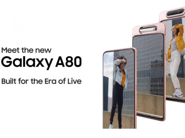 The Samsung Galaxy A80 Has a Cool Spinning Selfie Digicam