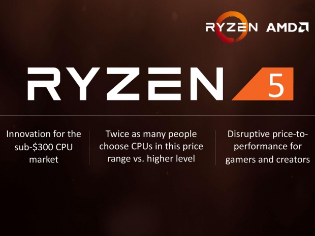 AMD officially announces Ryzen 5 CPU lineup