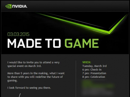 Nvidia schedules Made to Game event for March 3