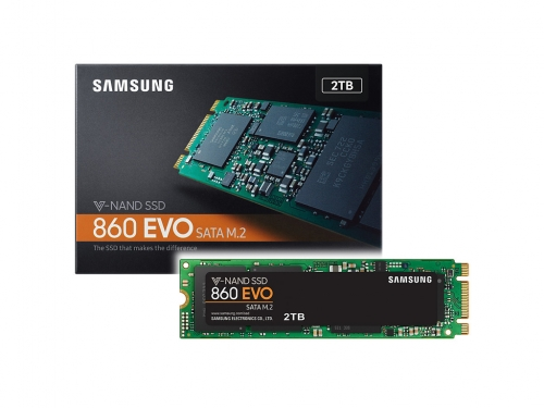 Samsung 860 EVO SSD series shows up on its site