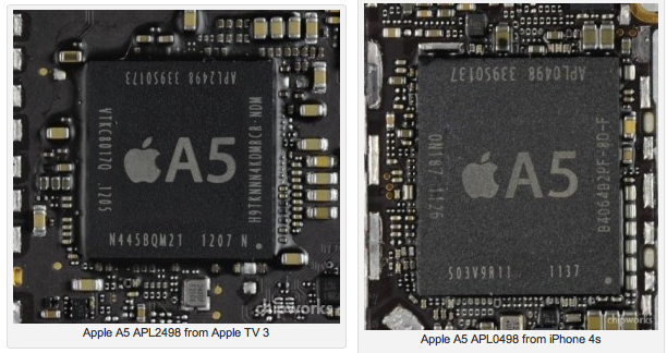 apple a5 soc comparison