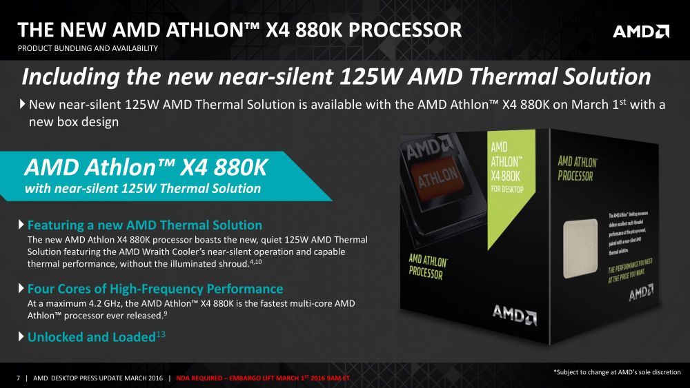 AMD A107890KAthlon880K 2