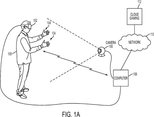sony glove controller patent diagram