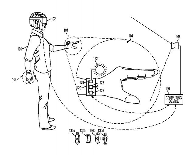 sony glove controller patent