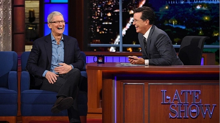 tim cook the late show