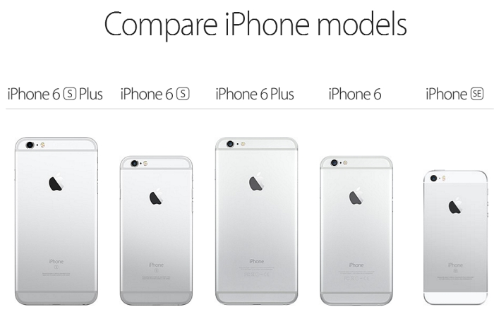 compare iphone models apple s 4 inch iphone se arrives march 31st 1600