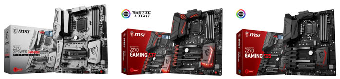 msi z270 enthusiast series