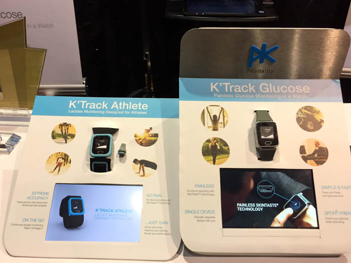 pkvitality ktrack glucose and athlete wearables
