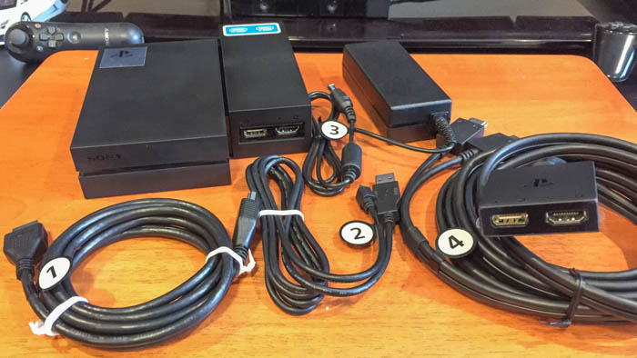 playstation vr components and cables