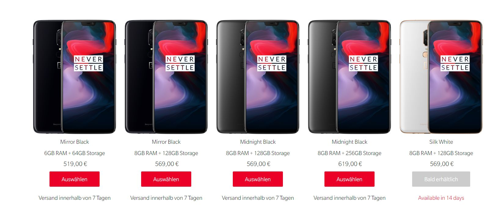 OnePlus6lineup