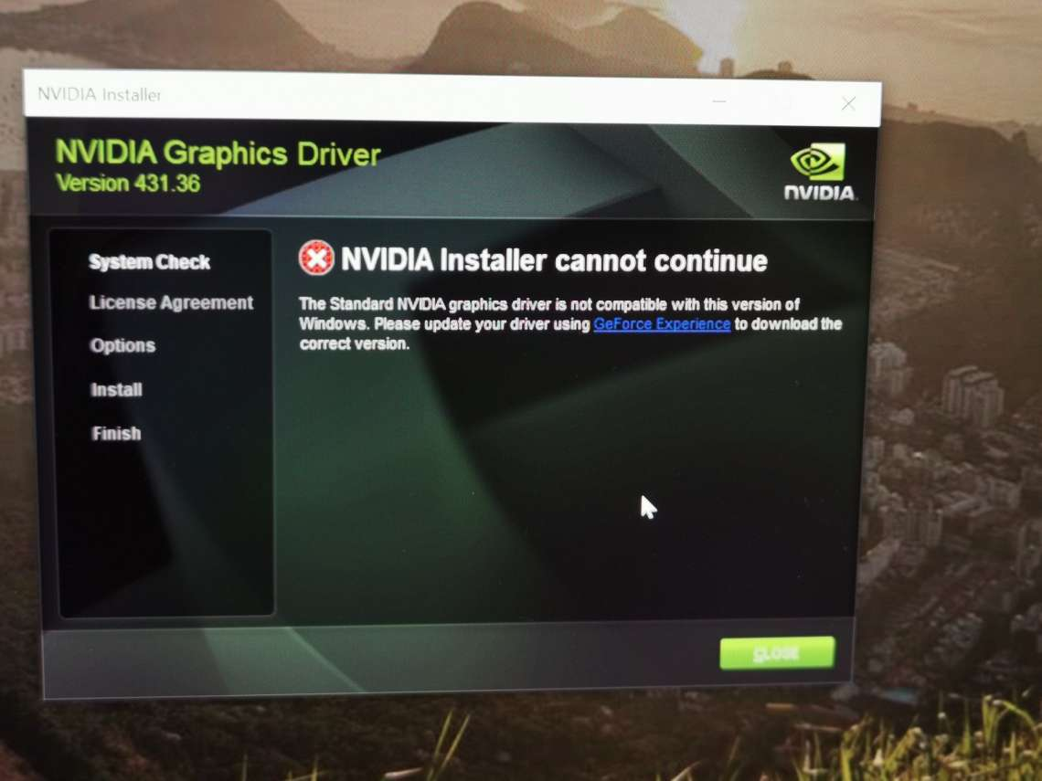 Nvidia driver 431 60 can fail installation