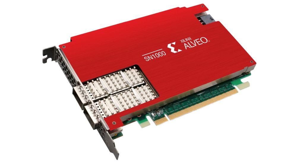Xilinx Alveo SN100 SmartNIC angle