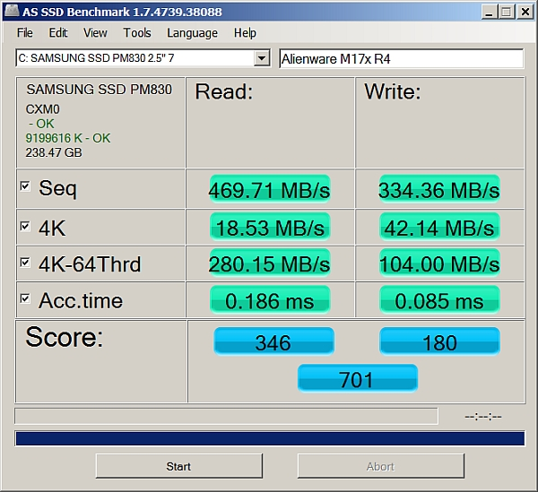 as-ssd-bench SAMSUNG SSD PM83