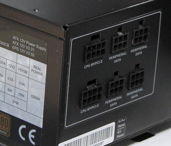 club-3d-1000W-PSU-connectors