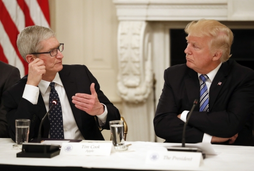 Trump assures Apple it is safe from tariffs