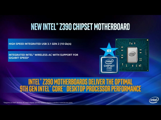 9th Gen Z390 chipset supports AC WIFI
