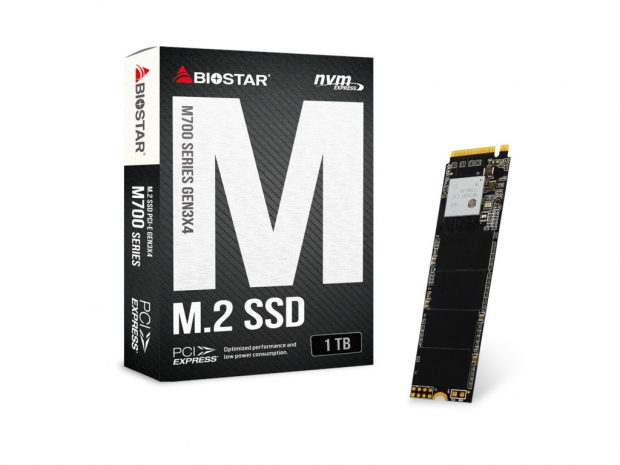 Biostar adds 1TB version to its M700 PCIe NVMe SSD lineup