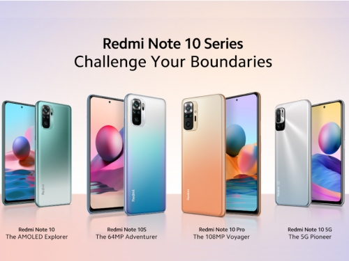 Xiaomi officially unveils the Redmi Note 10 series smartphones