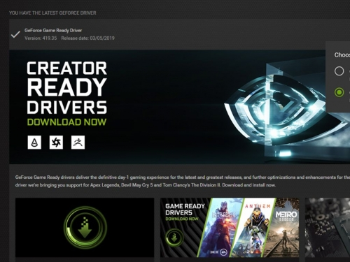 Nvidia brings first Creator Ready graphics driver