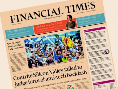 Venerable Financial Times goes cloudy