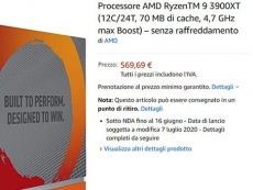 AMD Ryzen 9 3900XT, Ryzen 5 3600XT listed by Amazon Italy