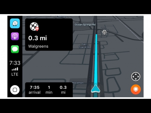 Waze and Google maps are now on Apple Car