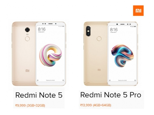 Xiaomi Redmi Note 5 and Note 5 Pro officially launched