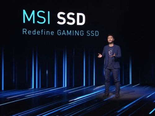 MSI shows its PCIe 4.0 NVMe SSDs at CES 2021